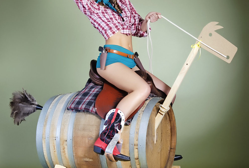 Cowgirl Pin up style ready for Melbourne Cup!