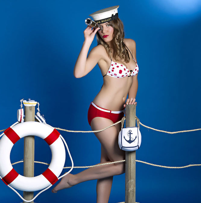 """Boudoir Photography Melbourne  –  """"Your ship is ready for boarding"""" pin up shoot."""